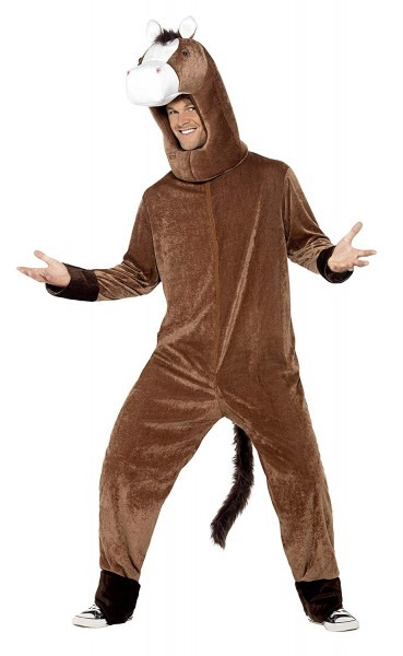 Amazon Com  Smiffys Adult Unisex Horse Costume, Bodysuit And Hood