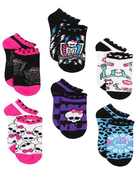 Amazon Com  Monster High Girls 6 Pack Socks (6