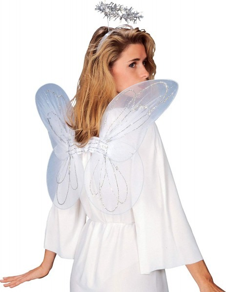 Amazon Com  Rubie's Angel Wings And Halo Set, White, One Size