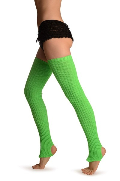 Amazon Com  Neon Green Stirrup Dance Ballet Leg Warmers