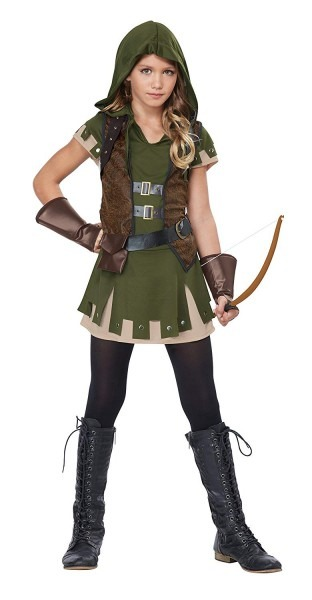 Amazon Com  California Costumes Miss Robin Hood Tween Costume