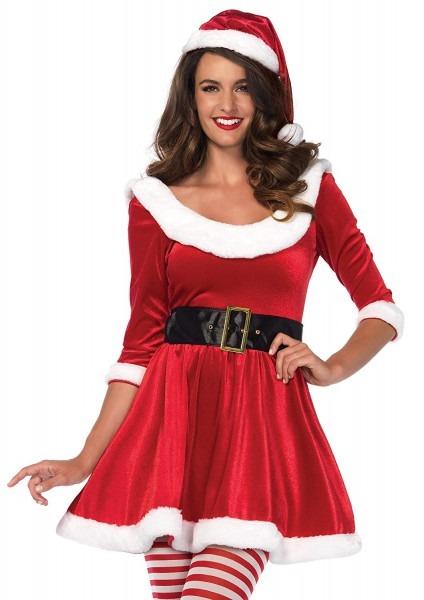 Amazon Com  Leg Avenue Women's Cozy Santa Mrs  Claus Christmas
