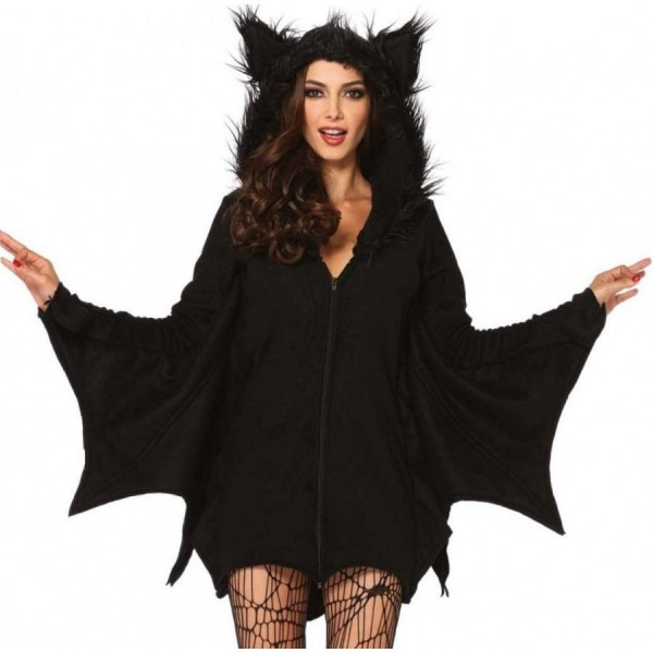 Cozy Bat Wing Shrug And Ears