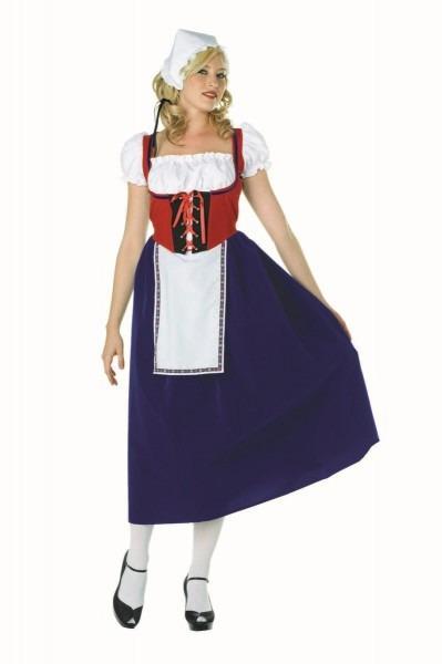 Sexy Milk Maiden Swiss Miss Oktoberfest Blue Plus Size Costume 86379