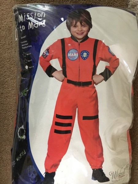 Astronaut Dressing Up Outfit Age 8
