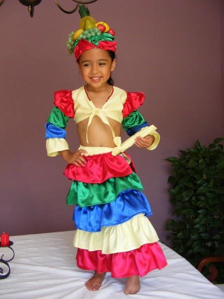 Girl Chiquita Banana Carmen Miranda Costume