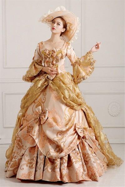 Fancy Victorian Medieval Renaissance Costume Dress Antoinette