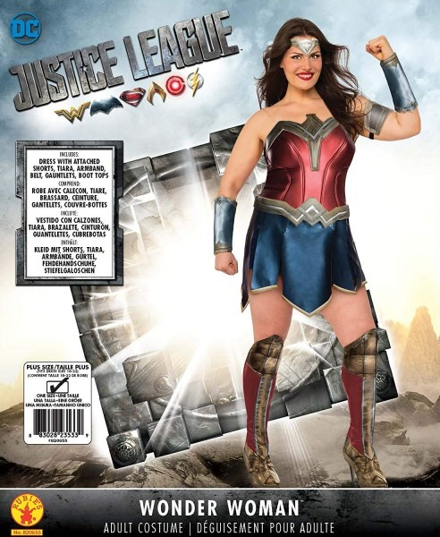 Amazon Com  Rubie's Wonder Woman Adult Deluxe Costume, Plus Size