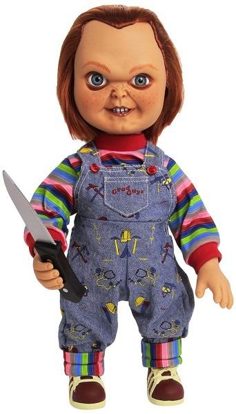 Amazon Com  Mezco Toyz 15  Mega Good Guy Chucky Action Figure With