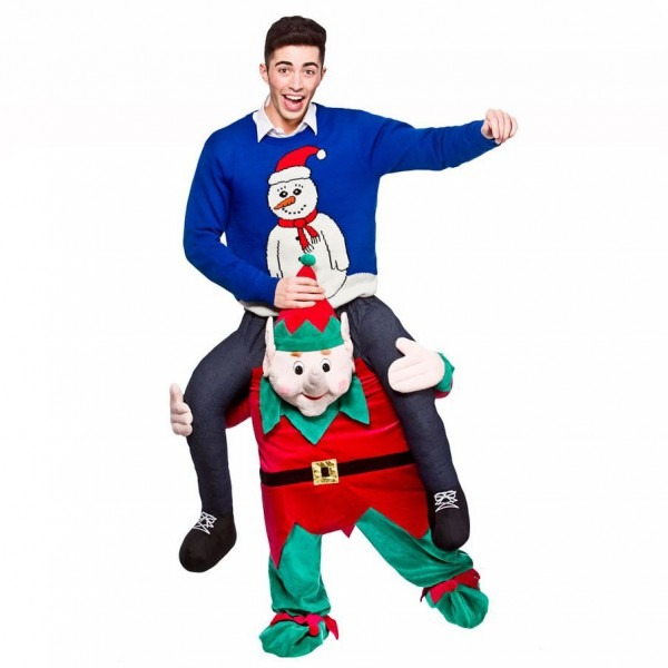 Mens Adult Carry Me Novelty Ride On Mascot Christmas Fancy Dress
