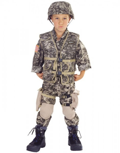 Army Ranger Boys Childs Deluxe Military Halloween Costume