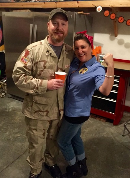 Rosie The Riveter & Army Soldier Couples Costume!