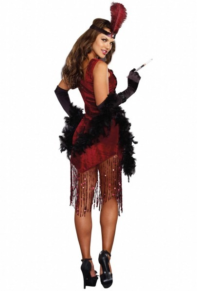 Sexy Red Sequins Saloon Girl Flapper Dress Costume Upscalestripper Com