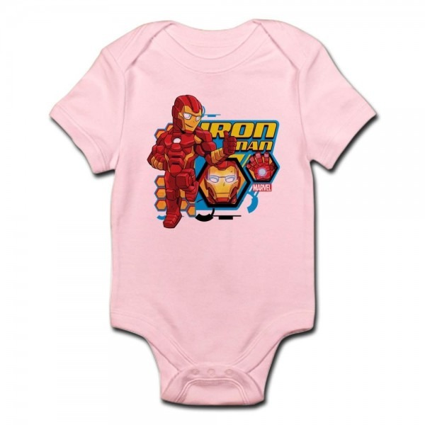 Cafepress Iron Man Cute Infant Bodysuit Baby Romper (222644606