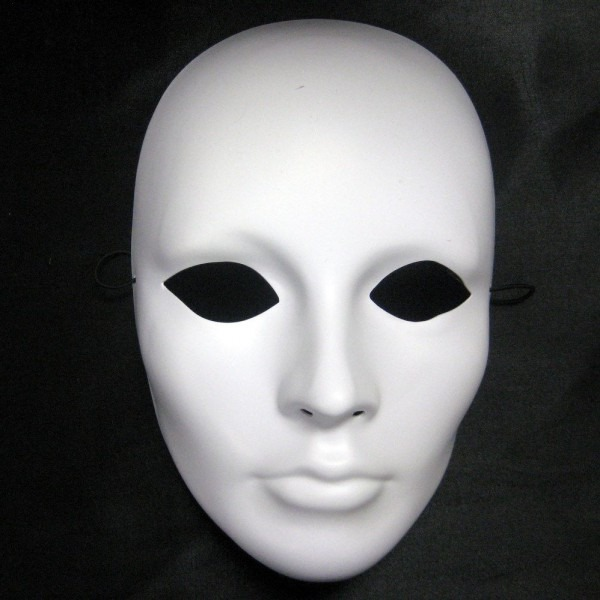 35 Awesome Plain White Face Masks Images