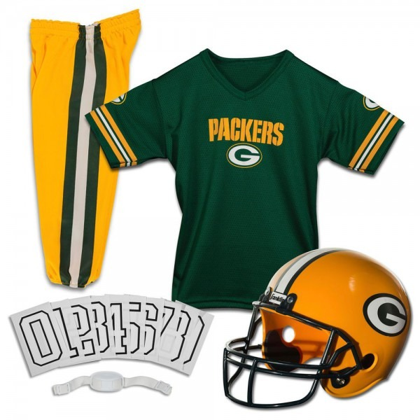 Green Bay Packers Jersey Youth Uniform Set Nfl Football Helmet