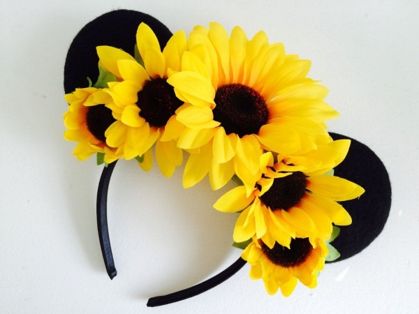 25  Off Sale! Super Cute Sunflower Mickey Mouse Ears, Minnie Mouse