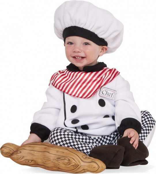 Little Chef Infant Toddler Cook Plaid Uniform Halloween Costume