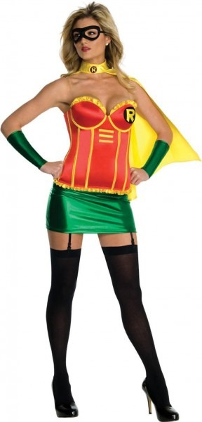 Justice League Sexy Robin Corset Costume Adult