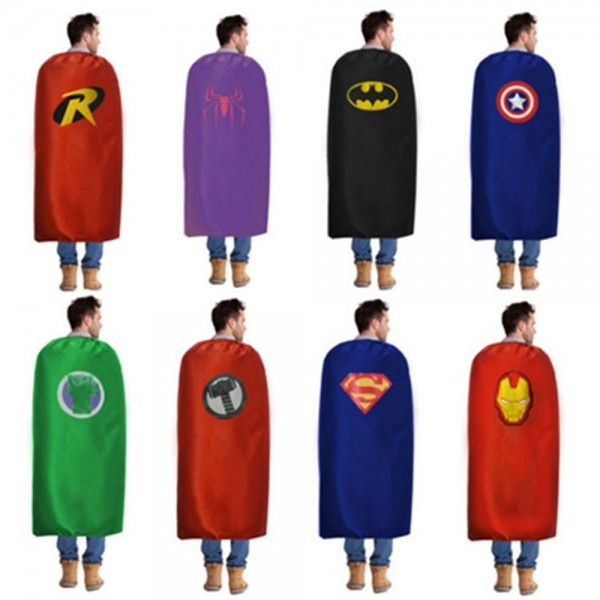 Adult Cape 1 Cape Superhero Capes Costumes Batman Spiderman