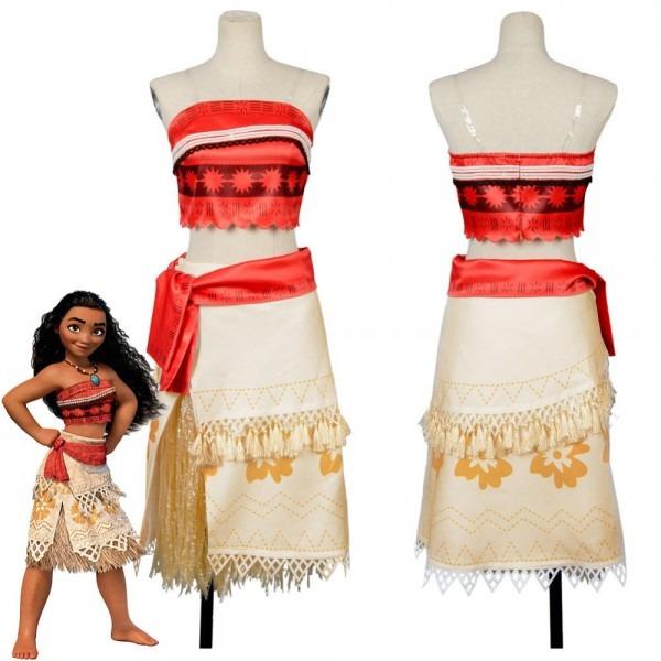 Adult Moana Cosplay Costume Sexy Princess Costume Halloween Suit