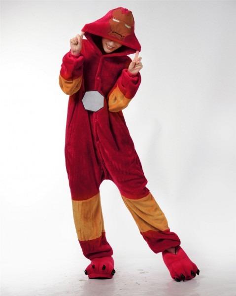 Adult Onesie Pajamas Superhero Capes Iron Man Anime Cosplay Movie