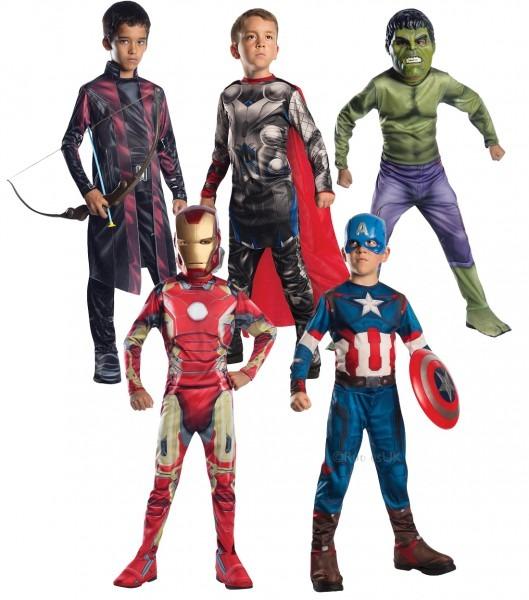 Avengers Age Of Ultron Boys Fancy Dress Superhero Comics Kids