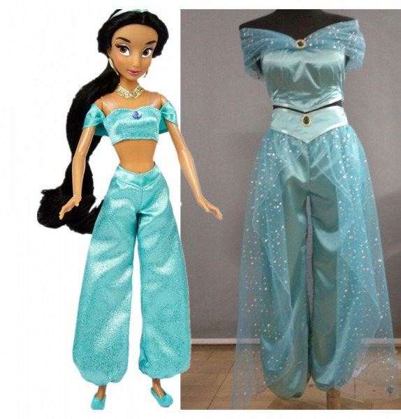 Aladdin Princess Jasmine Deluxe Dress Cosplay Costume