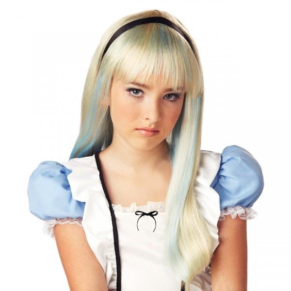 Shop Alice In Wonderland Child Costume Blonde And Blue Wig