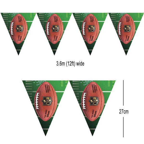 American Football Nfl Pennant Bunting (12ft) By Amscan 123469