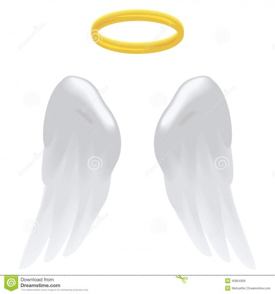 Angel Wings And Halo Stock Vector  Illustration Of Religion