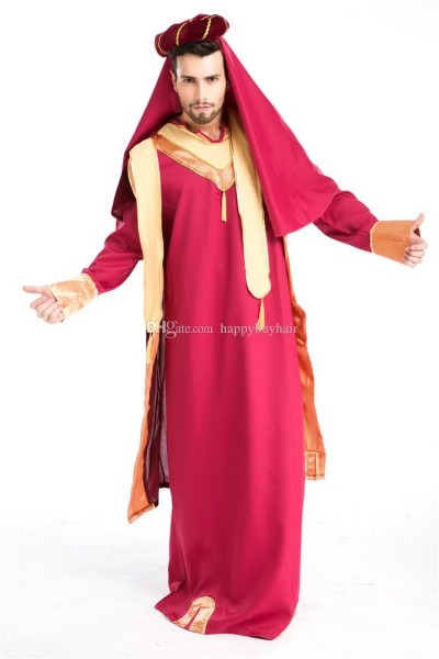 Arab King Prince Noble Cosplay Drama Costume Halloween Exotic