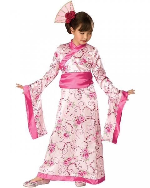 Ck358 Child Asian Princess Japanese Girls Kimono Geisha Fancy