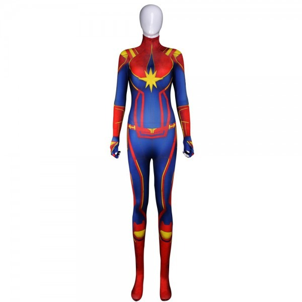 Avengers Endgame Captain Marvel Costume 3d Original Movie Woman