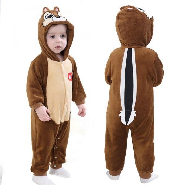 Squirrel Kigurumi Baby Infant Toddler Halloween Animal Onesie