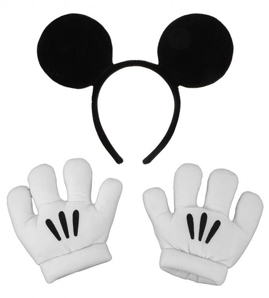 Mickey Ears And Gloves Set Halloween Accessory