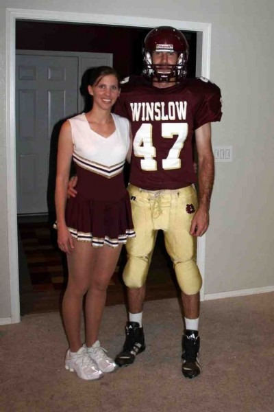 Football Player And Cheerleader Costumes