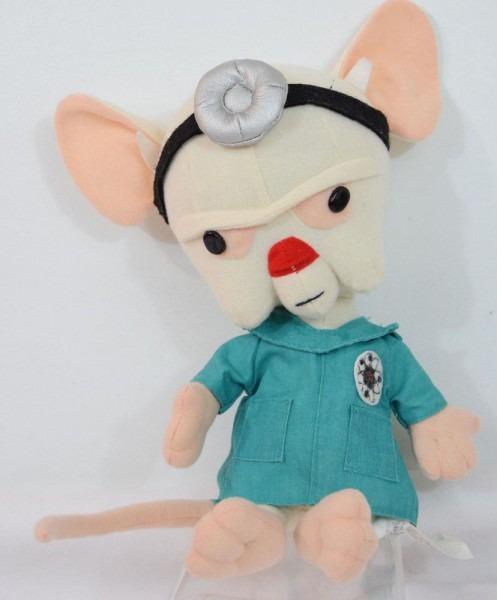 Pinky & The Brain Lab Rat Plush Stuffed Toy Desk Decor 90s Kid