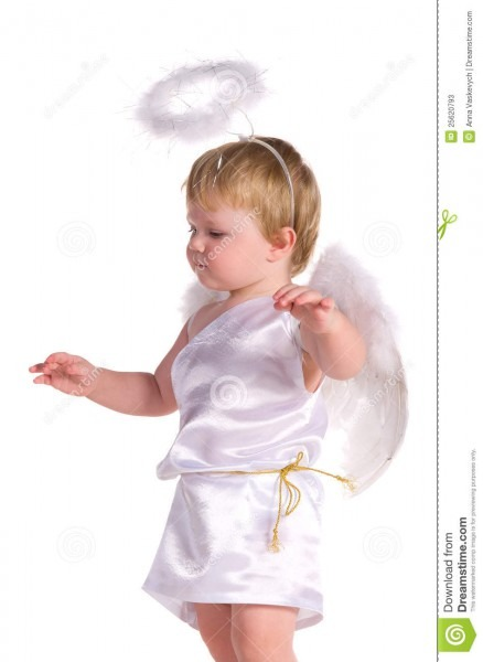 Baby Boy In Costume Of Angel Stock Image