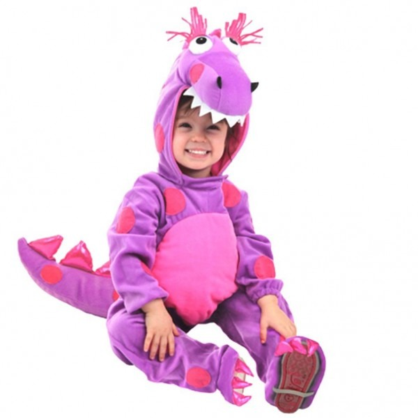 Shop Baby Girls Purple Pink Teagan The Dragon Hooded Halloween