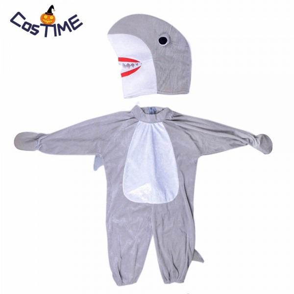 Baby's Silly Shark Costume Kids Animal Onesies Jaws Fancy Dress