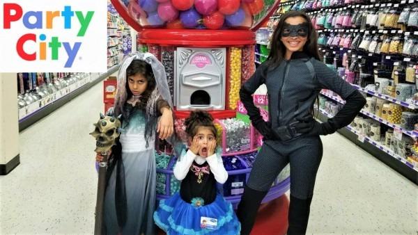 Dangerous Child Halloween Costume Buying At Social Gathering