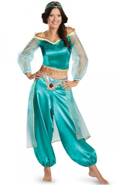 Halloween Aladdin Princess Jasmine Adult Kid Suit Cosplay Costume