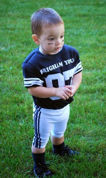 Homemade Halloween  Football Player + Baby Football Tutorials