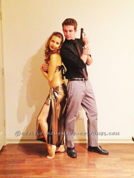 Coolest Couple Halloween Costume  James Bond And The Golden Girl