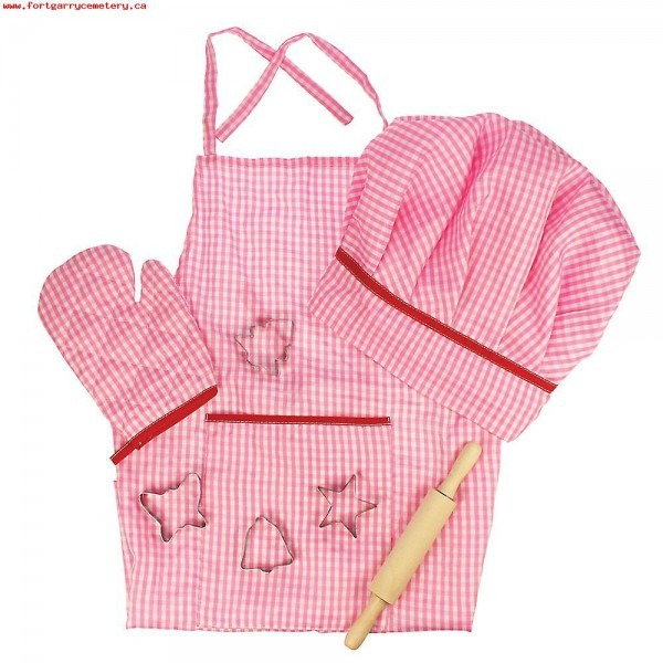 Bigjigs Toys Pink Chef's Dress Up Set With Baking Accessories Ex6q3fgj