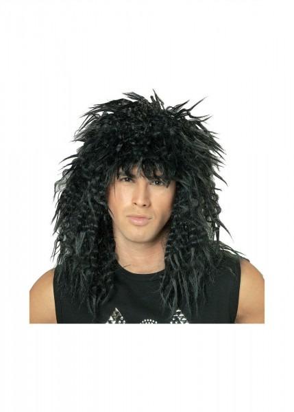 Black 80s Rock Star Wig