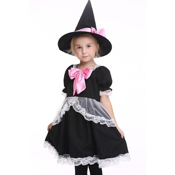 Black Cute Witch Fancy Dress Kids Costume  2bla37260