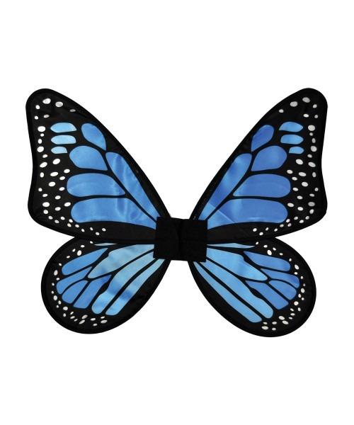 Baby Kids Blue Satin Butterfly Wings
