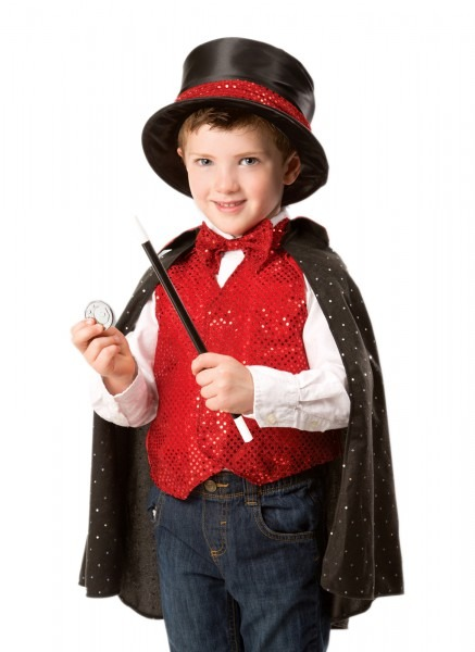 Boys Or Girls Magician Costume With Top Hat